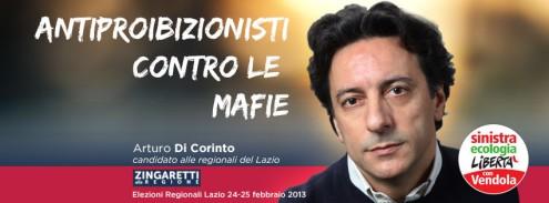 Cover Facebook: Arturo Di Corinto candidato alle elezioni regionali del Lazio, 24-25 febbraio 2013