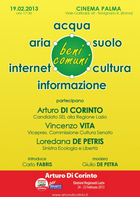 Arturo Di Corinto in Regione Lazio