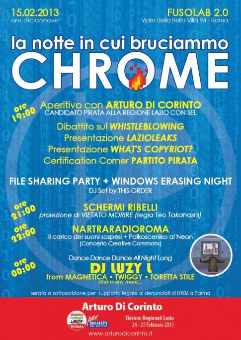 Di Corinto in regione Lazio - burning Chrome