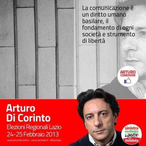 Arturo Di Corinto candidato alle regionali del Lazio 2013