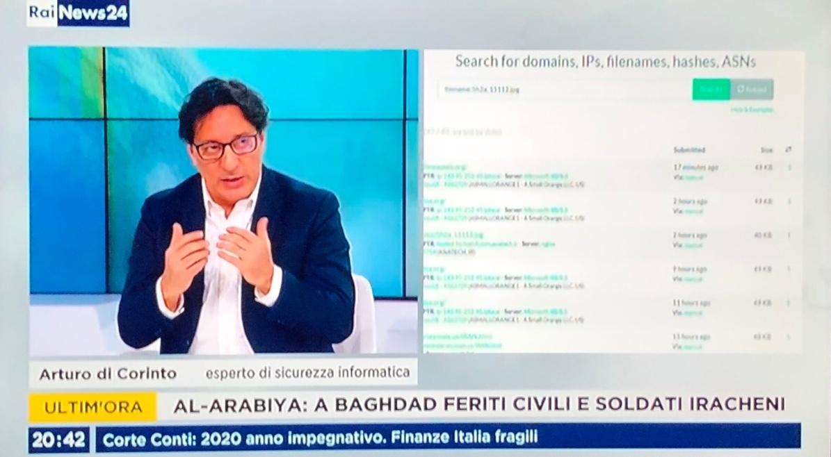 Intervista a RaiNews24 sulla rappresaglia cibernetica iraniana