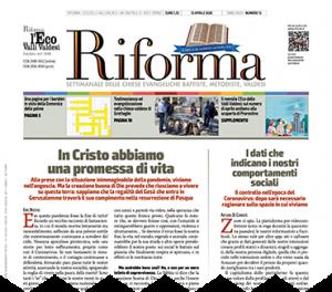 Prima pagina Riforma Marzo