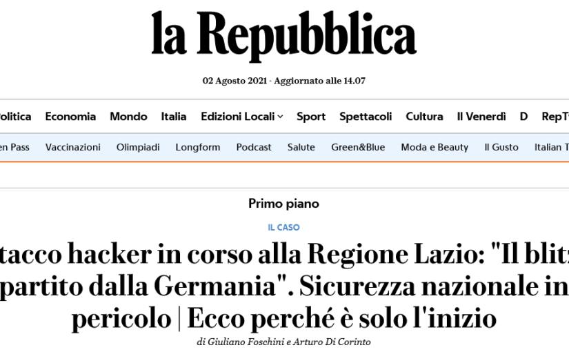 Ecco perché l'attacco hacker alla Regione Lazio è solo l'inizio